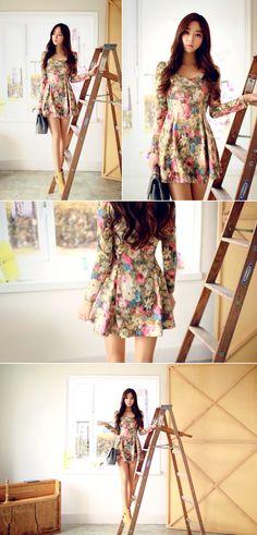 Floral Scoop Dress