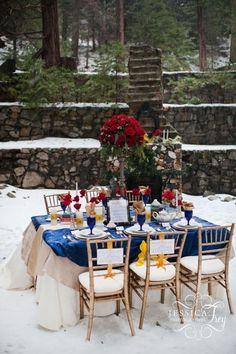 beauty and the beast winter wedding reception ideas