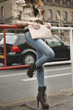 ღ love the boots and skinny jeans