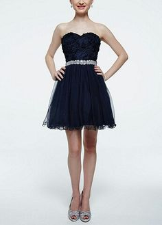 dark Blue dress David's Bridal
