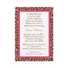 Cheetah Girl Animal Print Baby Shower Invitations by little_prints