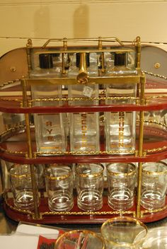 Vintage Tantalus With 3 Decanters. $95.00 SOLD