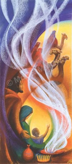 Gold, Frankincense and Myrrh - Christmas Banner by Sr Mary Stephen CRSS. This…