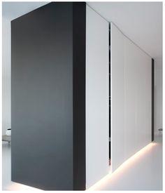 Home - Ideas to steal Bedroom Cupboard Designs, Bedroom Cupboards, Living Room Designs, Modern Interior, Interior And Exterior, Interior Design, Partition Door, Sliding Wall, Home Goods Decor