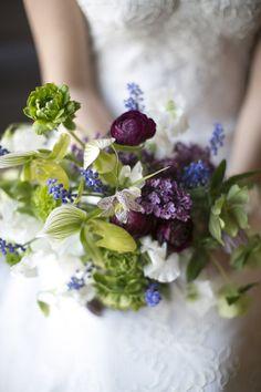 Purple and green bouquet Spring Wedding Flowers, White Wedding Bouquets, Bridal Flowers, Bridal Bouquets, Flower Centerpieces, Flower Arrangements, Wedding Centerpieces, Blue Orchid Bouquet, Wedding Backdrop Design
