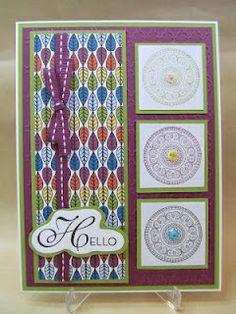 Hello card. Stampin' Up!, international bazaar.