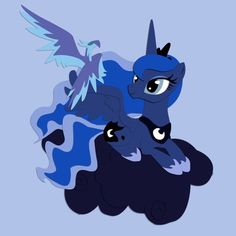 I can only imagine that if Luna got an ice/snow phoenix like this, she would name it Snowdrop, after the only pony to ever understand her night.