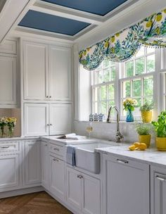Andover, MA - Traditional - Kitchen - Boston - by Beaulieu Cabinetry, Inc. Kitchen Colors, Kitchen Decor, Kitchen Design, Small Kitchen Layouts, Kitchen Valances, Vintage Kitchen Curtains, Kitchen Window Treatments, Beach Cottage Decor, Kitchen Cabinetry