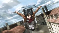 """""""Attack on Titan"""" - Watch it: Humanity on its last legs, David and Goliath, people losing limbs at a remarkable rate."""" If you love watching people losing limbs at a remarkable rate, watch Attack on Titan. Mikasa, I Love Anime, Me Me Me Anime, Watch Attack On Titan, David And Goliath, Ouran Host Club, Kaichou Wa Maid Sama, Levi X Eren, Fan Art"""