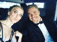 Julianne and Derek arriving at The Emmys. 2015