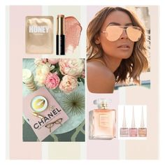 """""""Honey"""" by agentash on Polyvore featuring beauty, Quay, Christian Louboutin, Bobbi Brown Cosmetics and Lapcos"""