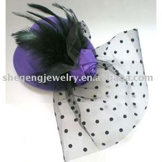 I want this! Purple mini derby hat!!