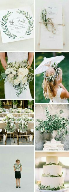 Love the greenery in these!