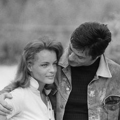 Alain Delon and Romy Schneider ~ Check out for more pins: https://www.pinterest.com/neno3777/alain-delon/