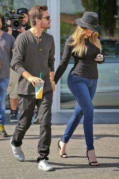 Khloe Kardashian and Scott Disick at Calabasas Luxury Motorcars