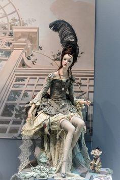 by Alisa Filippova Textile Sculpture, Art Sculpture, Sculpture Ideas, Sculptures, Fashion Dolls, Fashion Art, American Girl Doll Shoes, Big Eyes Artist, Academic Art