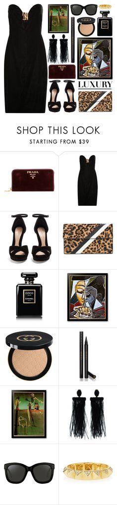 """lux lifestyle"" by foundlostme ❤ liked on Polyvore featuring Prada, Tom Ford, Alexander McQueen, Tomasini, Chanel, Gucci, Oscar de la Renta, Linda Farrow, Sydney Evan and velvet"