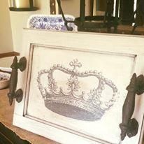 Painted serving tray with Graphics Fairy Image Transfer using Artisan Enhancements Transfer Gel - FRESH