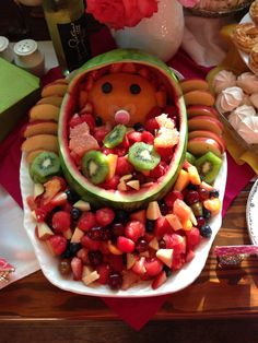 baby shower watermelon fruit basket for twins baby shower watermelon