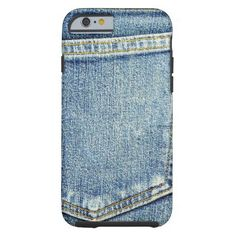 Denim Jeans Pocket Blue Fabric style fashion rich Tough iPhone 6 Case