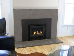 concrete fireplace - Google Search