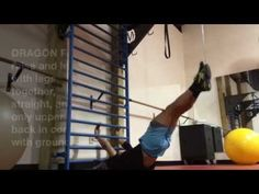 Perform bodyweight exercise Dragon Flag and progressions on stall bars - YouTube