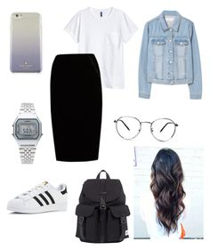 """Vacation outfit"" by lauren-bascon-alicbusan on Polyvore featuring H&M, Jupe By Jackie, adidas, Casio, MANGO, Herschel and Kate Spade"