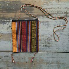 Vintage Tibetan Mixed Fabric Light Weight Cross Body Purse on Etsy, $18.49