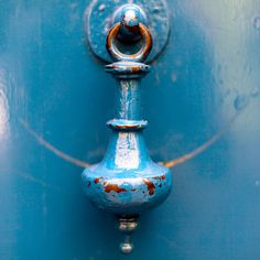 Blue door knocker