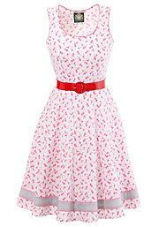 Hammerschmid Trachtenkleid mit dezentem Rosendruck