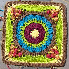 "Cathedral Converts 12"" Afghan Block Motif By Margaret MacInnis - Free Crochet Pattern - (ravelry)"