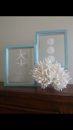 55 Delicate And Beautiful Beach-Inspired Mantels - DigsDigs Seaside Decor, Beach House Decor, Coastal Decor, Seashell Crafts, Beach Crafts, Seashell Art, Summer Crafts, Kid Crafts, Craft Projects