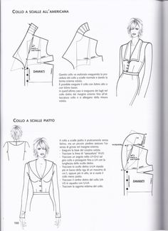 Курсы кроя и шитья онлайн from La tecnica dei modelli uomo donna 1 Easy Sewing Patterns, Coat Patterns, Blouse Patterns, Clothing Patterns, Bodice Pattern, Collar Pattern, Sewing Collars, Sewing Lessons, Pocket Pattern