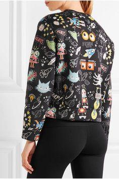 Fendi - Printed Modal-neoprene Sweatshirt - Black - IT46