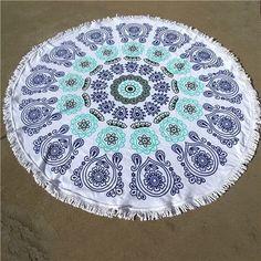 Chiffon Round printing beach towel beach fringed bath cover up shawl yoga mat wall hanging saida de praia dropshipping wholesale Yoga Blanket, Beach Blanket, Mandala Blanket, How To Do Yoga, Beach Mat, Outdoor Blanket, Shapes, Retro, Unique