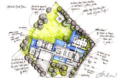 gallery of drew' residential projects Architect House, Barn Homes, Architects, Floor Plans, Sketches, Models, How To Plan, Gallery, Water