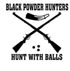 Black Powder Hunter Vinyl Decal