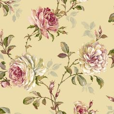 WI 00125 behang Windermere Smith And Fellows Flowery Wallpaper, Windermere, High Quality Wallpapers, Watercolor Rose, Photo Wallpaper, Background Patterns, Pretty In Pink, Fabric, Painting