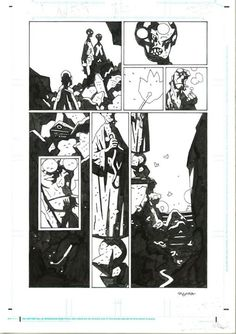 MIKE MIGNOLA HELLBOY IN HELL 5 page Comic Art