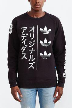 adidas Originals Tokyo Stripe Long-Sleeve Sweatshirt