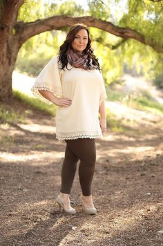 Cozy in Lace Tunic from Be Inspired Boutique