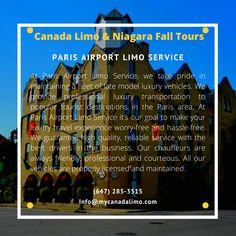 Paris Airport, Toronto Airport, Airport Limo Service, Service Canada, Business Travel, Books Online, Transportation, Tours