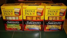 Sargento Cheese Fridge Packs   -  #chooseSargentoCheese, @Sargento Cheese, and @Influenster