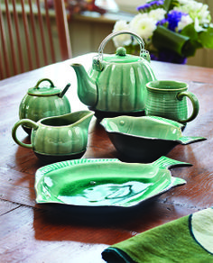 7ec4560f1314 Sea Tones tableware for your  catch of the day . From Ten Thousand Villages