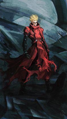 Vash the Stampede - Trigun. Manga Anime, Manga Art, Anime Art, I Love Anime, Awesome Anime, Anime Guys, Cowboy Bebop, Male Character, Character Design