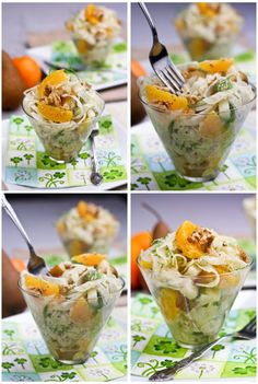Orange Salad....serve in plastic drink cups for party food...just add plastic forks.