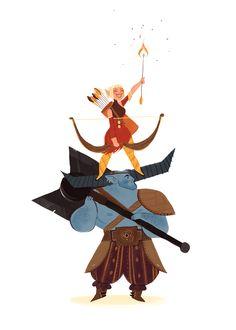 A good idea. Iron Bull and Sera. Dragon Age: Inquisition