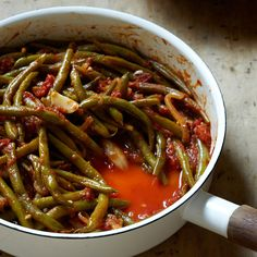 Braised Green Beans with Tomatoes and Garlic | Food & Wine