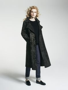 Yves Salomon F/W 2016-2017 Look 21 _ Collection Woman Swakara persian lamb coat; my go-to coat for dinner and many evenings