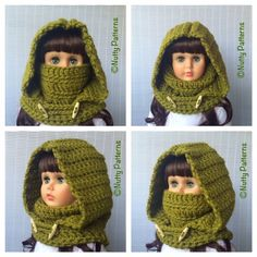 Crochet Patterns  Montana Hood with Cowl  Instant by nuttypatterns